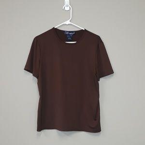 Susan Graver Style brown tee size Medium